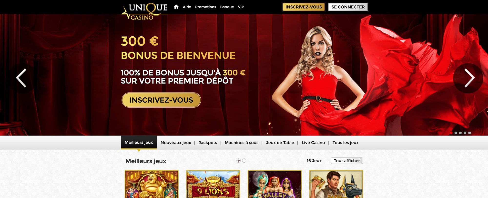 Unique Casino Officiel